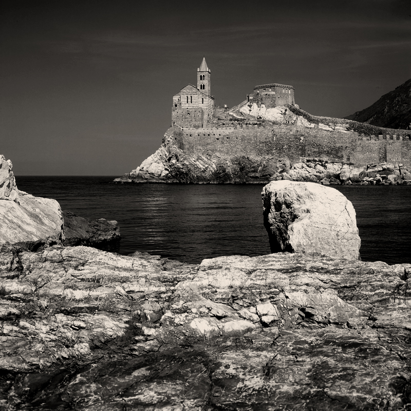 portovenere, saint peter, church, sea, photography, cinque terre, national park, fine art photography, sea, italy, liguria, posters, prints, rocks, cliff.